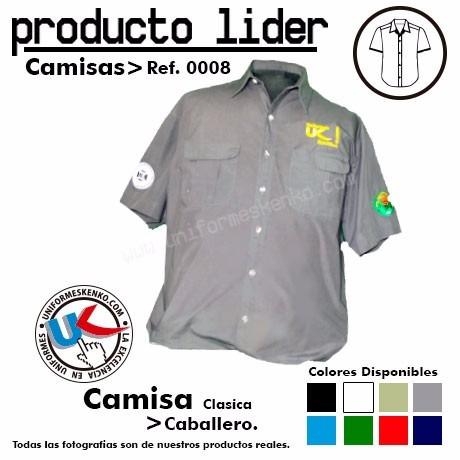 camisas tipo columbia uniformes gratis bordado (algodon)