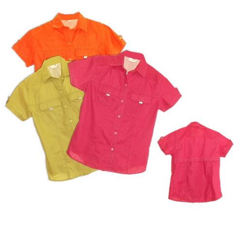 camisas tipo columbia uniformes gratis un bordado frontal