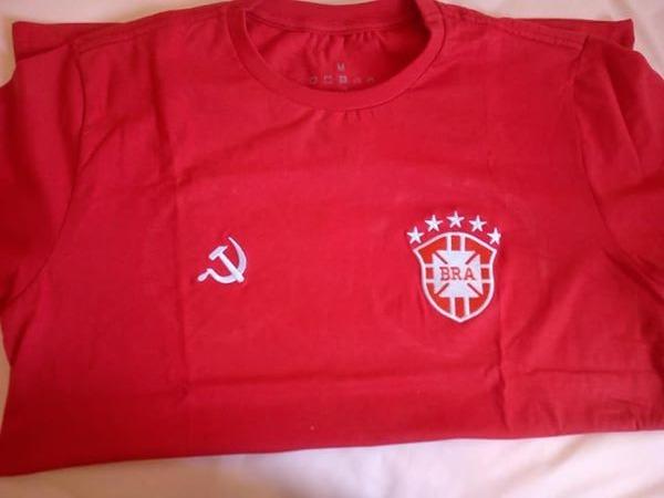 Camisas Vermelhas Comunistas Da Seleção Brasileira - R  49 31ec50e70941f