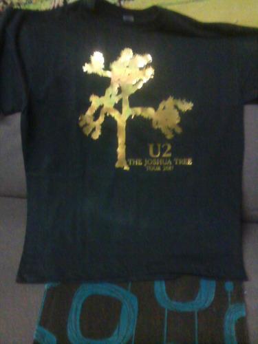 camisasm u2 envinilo brillante dorado de lujo