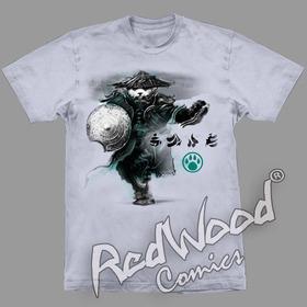 Camiseta - Wow Pandaren Shield - Tam. P - Stamp -  Redwood