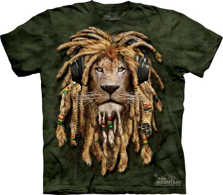 Camiseta 100% Algodão The Mountain - Leão Rastafari   Dj - R  104 6a33a5bd6e7