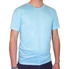 Camiseta 100% Poliéster Azul Bebe - Ótima Para Sublimação - R  9 86c38761eefec