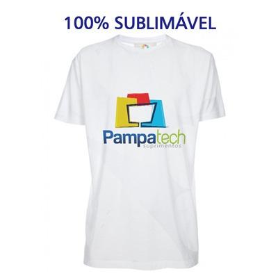 fa225a591 Camiseta 100% Poliéster Branca Fio 30 P Sublimar Sublimação - R  11 ...