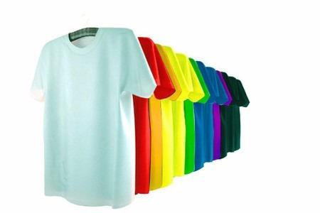 camiseta 100% poliester para sublimação colorida premium