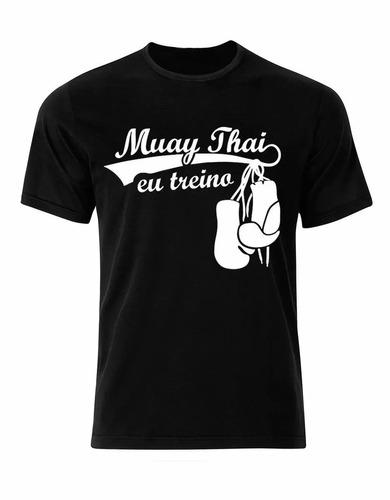 camiseta 100%algodão muay thai mma ufc luta promoção camisa
