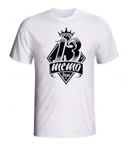 camiseta 13 memo de musculação masculina