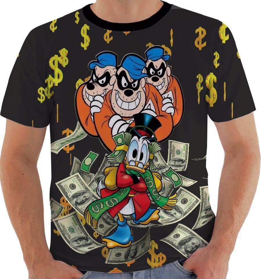 Camiseta 1906 Irmaos Metralha Beagle Boys Money Tio