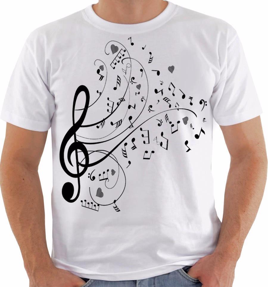 Camiseta 1922 Notas Musicais Music Dó Ré Mi Fá Sol La Si Pb - R  54 ... 88d99b11234eb