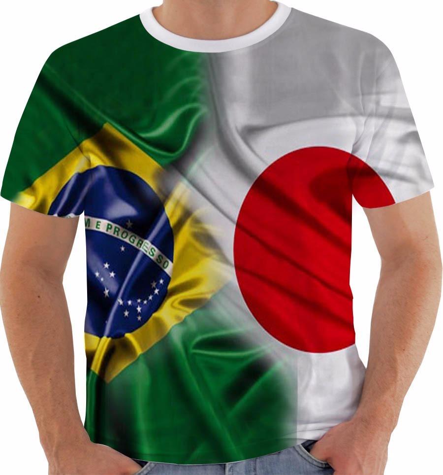 1cd8f43318a9c camiseta 2008 bandeira brasil japão copa rússia 2018 color. Carregando zoom.