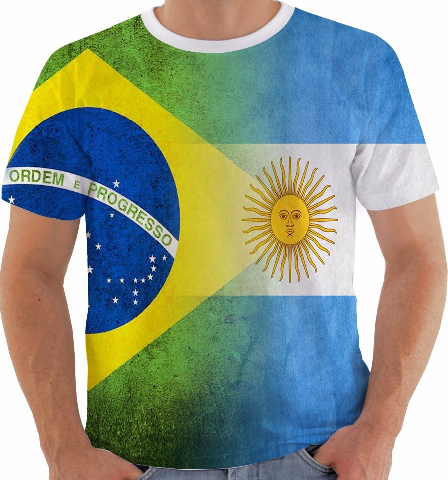 5f280adebf2d4 camiseta 2061 brasil x argentina dupla copa russia 2018 cor. Carregando zoom .