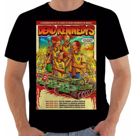 Camiseta 2519 Dead Kennedys Aniversario 40 Anos No Brazil