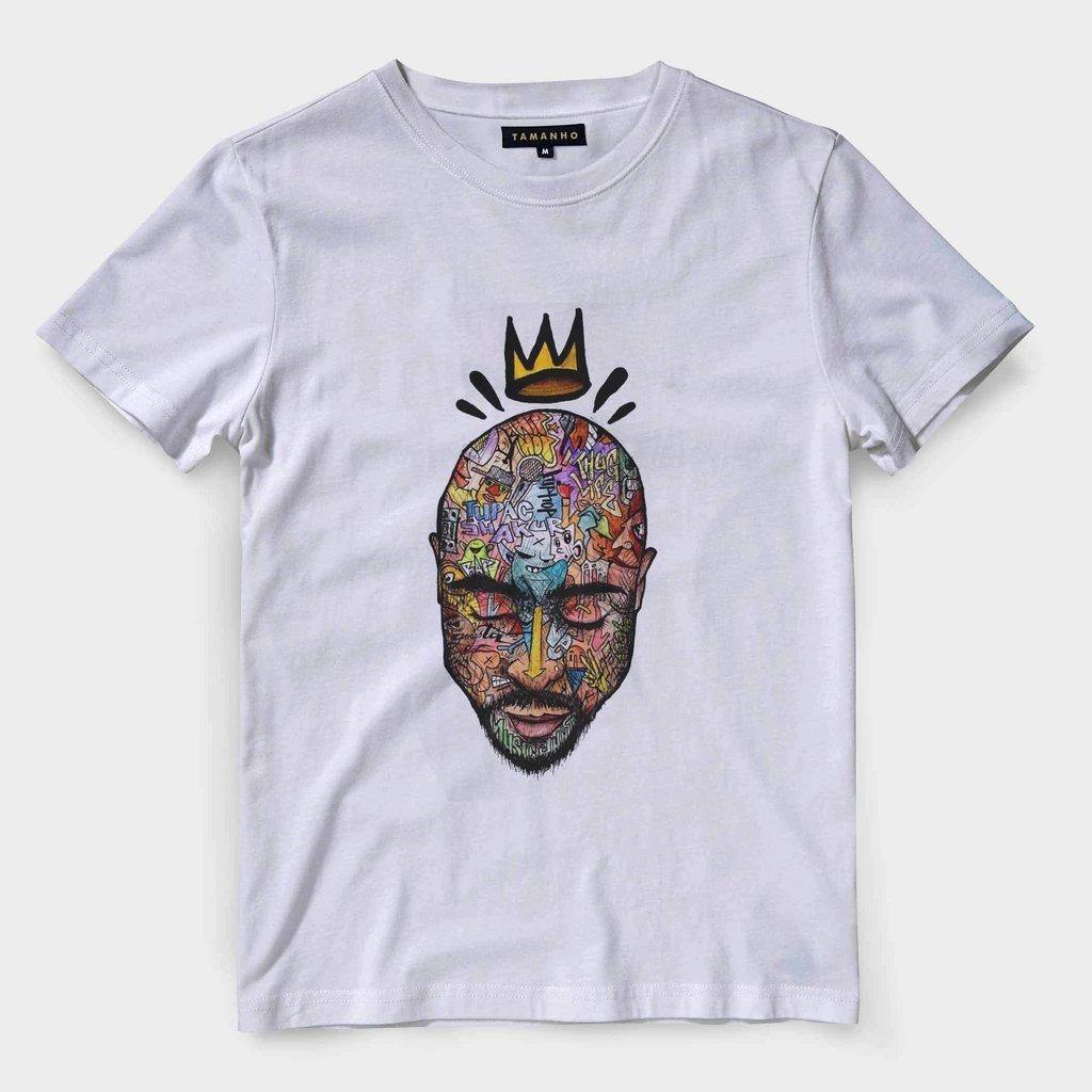 Camiseta 2pac King Barata Varias Estampas De Camisa Rap - R  41 b993d48e68dd5
