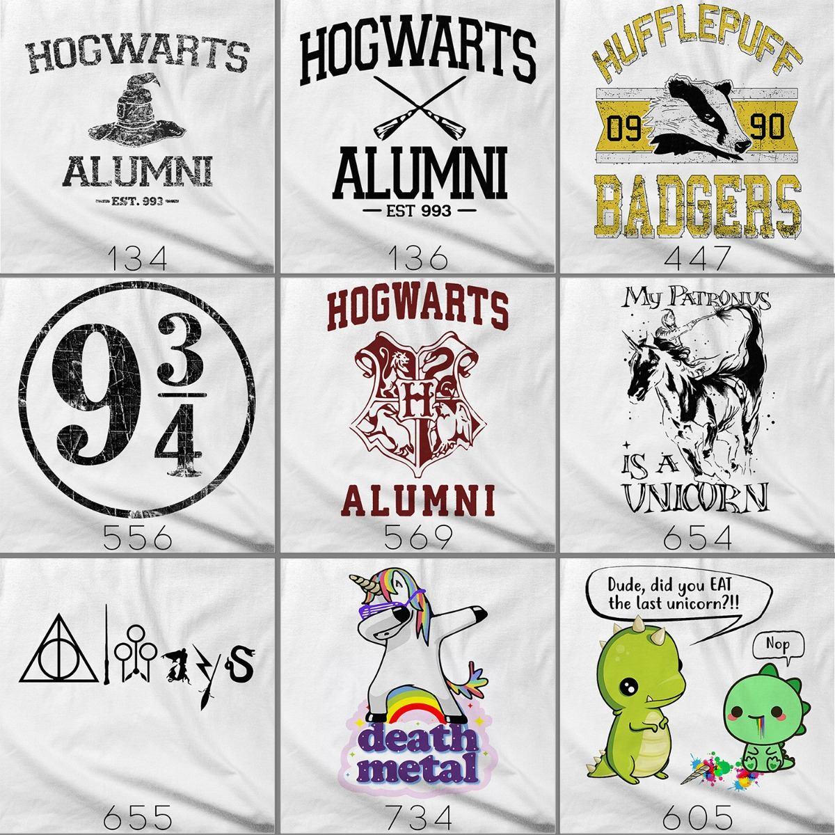 Camiseta 3 4 Camisa Unicornio Patronus Harry Potter Tumblr R 45