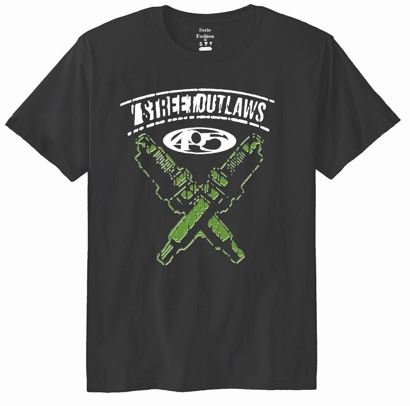 Camiseta 405 Básica Street Outlaws - Corridas Proibidas - 53 - R  51 ... 8ca3feec239