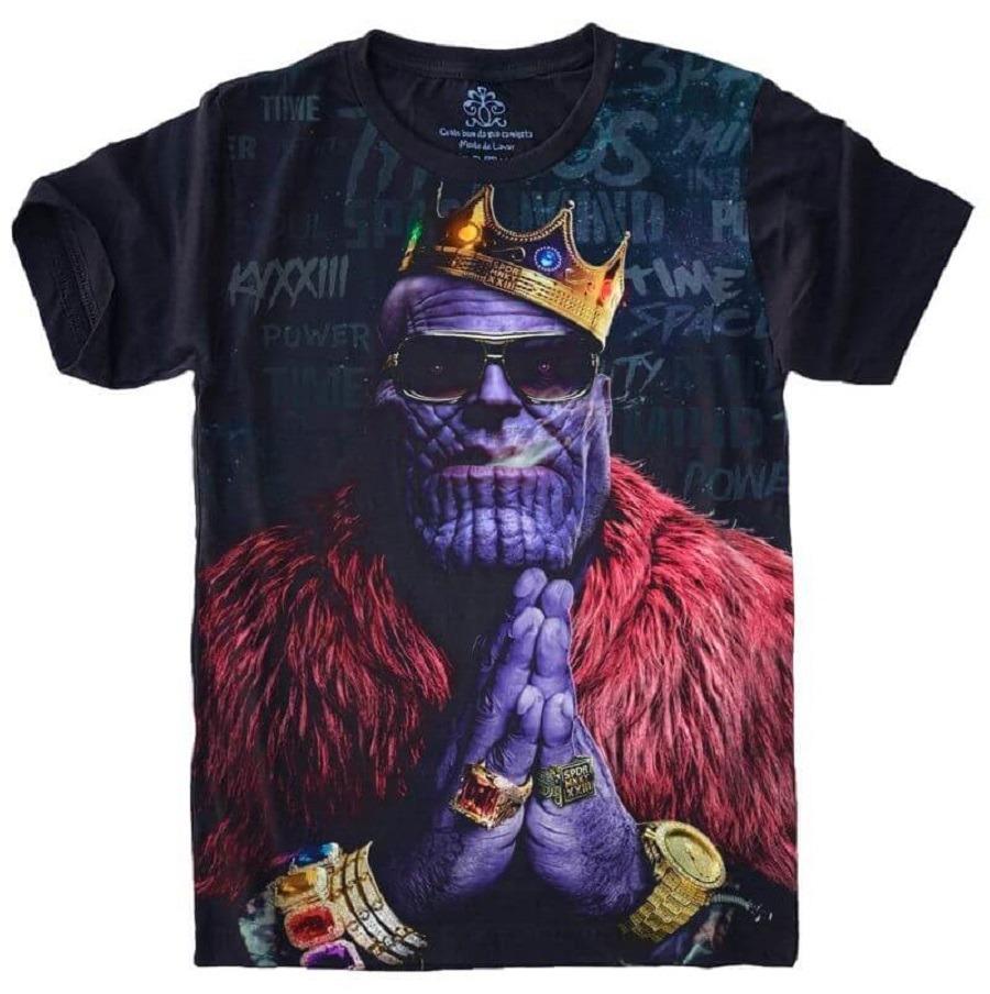 987f3cc4ca Camiseta 5%off Filme Guerra Infinita Vingadores Thanos - R  49