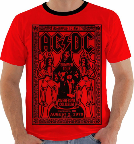camiseta ac dc - concert poster - live cincinnati