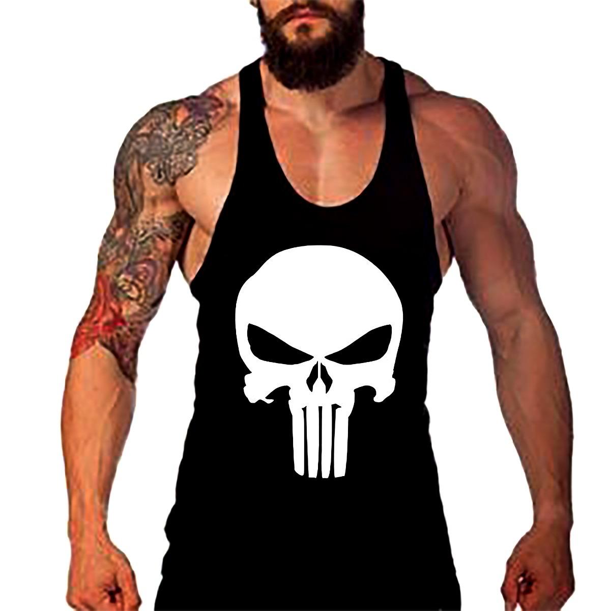 Camiseta Academia Punisher(justiceiro) Regata nadador - R  25 bfdfdc1dd3f