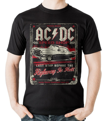 camiseta acdc highway to hell  rock activity