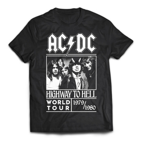 camiseta acdc highway to hell tour 80 rock activity