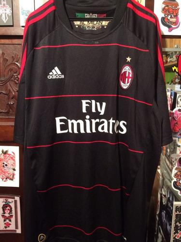camiseta adidas a. c. milan de italia talla xl año 09/10