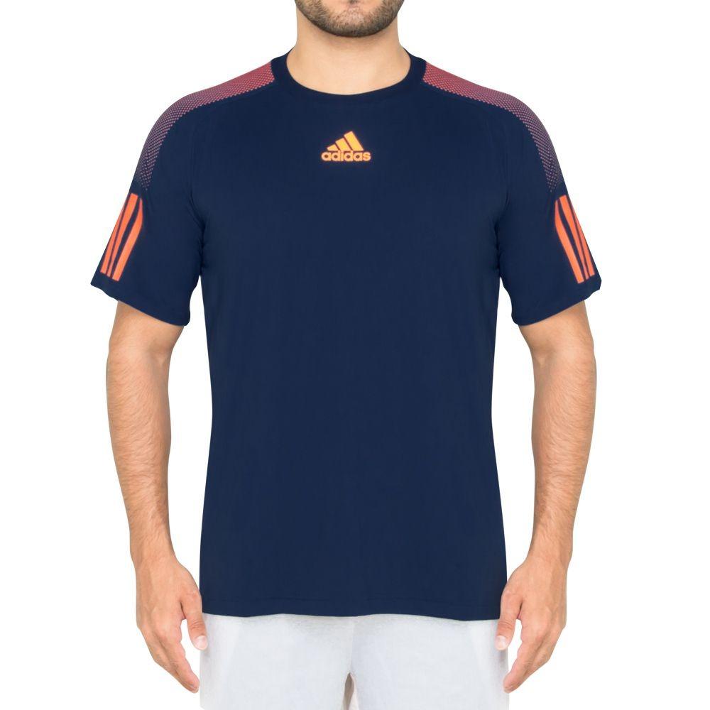 fad4f79837692 camiseta adidas barricade azul e laranja. Carregando zoom.