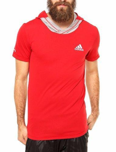 ae12d65d8f Camiseta adidas Basketball Com Capuz Estilo Hip Hop Wear - R$ 124,90 ...