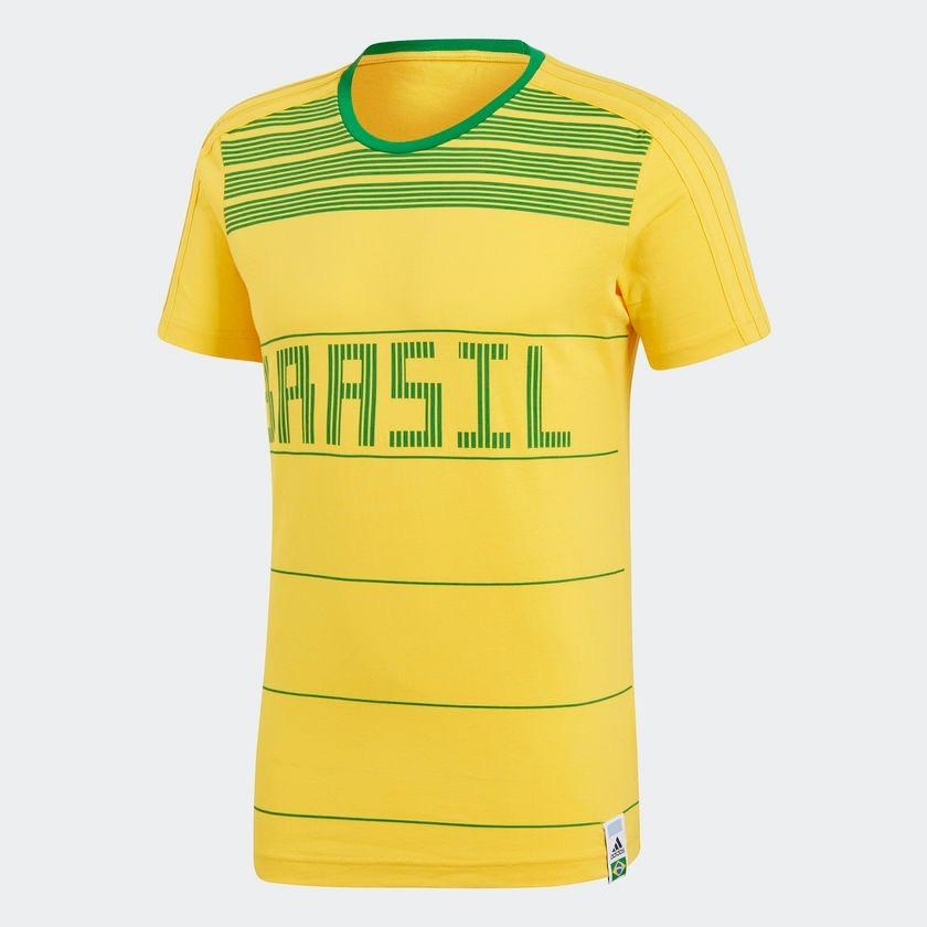 camiseta adidas brasil amarela e verde promoção. Carregando zoom. ebc5fea35f4c1