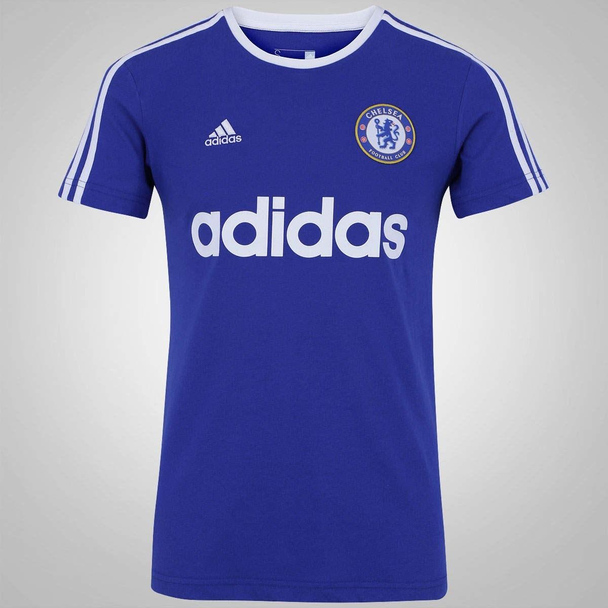 2e98f830a1c66 camiseta adidas chelsea azul original. Carregando zoom.