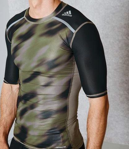 c6d8bb49462f8 Camiseta adidas Compressão Techfit Uv 50+ Base Ss Climalite - R  85 ...