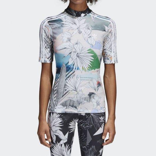 10cf6d7076861 Camiseta adidas Cw1377 Farm Mulher Originals Floral Atitude - R  229 ...