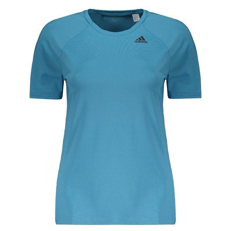 eba23df582 camiseta adidas d2m feminina azul claro. Carregando zoom.
