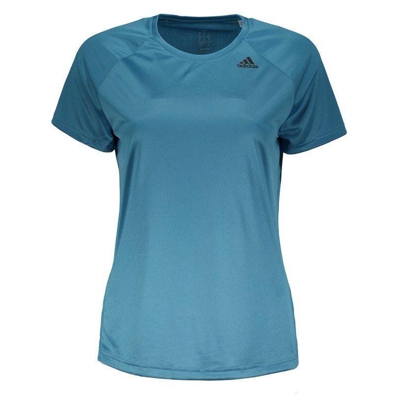 a4c637912b camiseta adidas d2m feminina azul e preta. Carregando zoom.