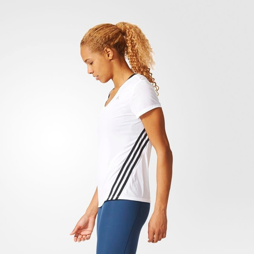 Camiseta adidas Ess Clima 3s Lw W Feminina S87233 - G - Bran - R  99 ... 68910183506bb