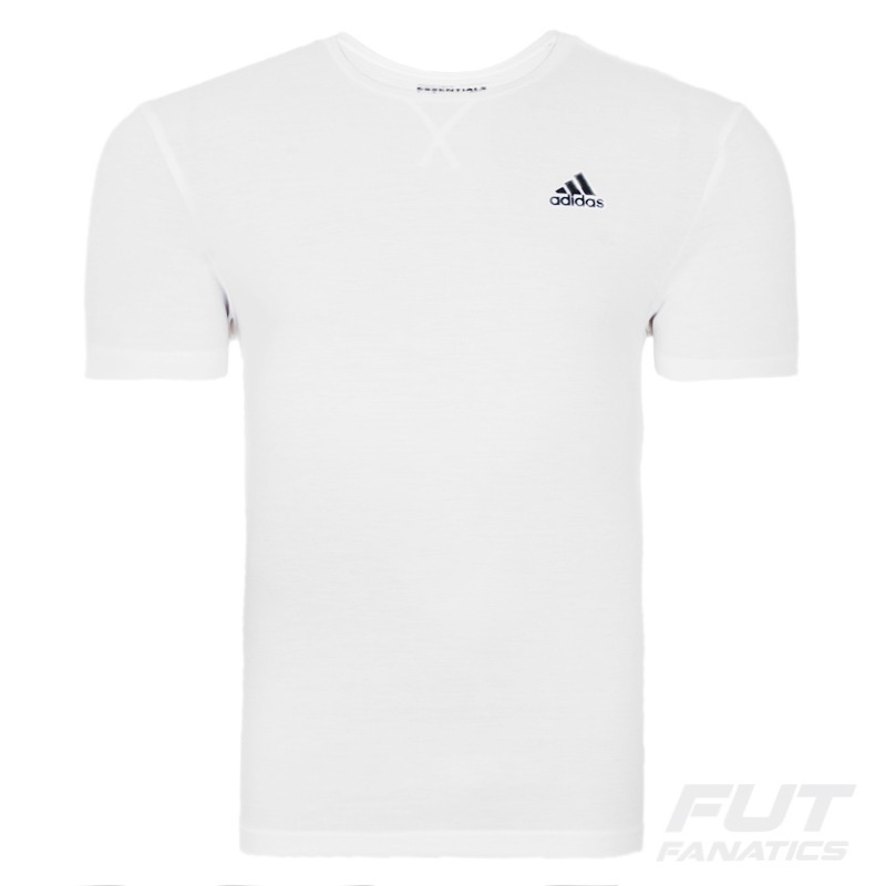 76664f643f013 camiseta adidas essentials plain branca - futfanatics. Carregando zoom.