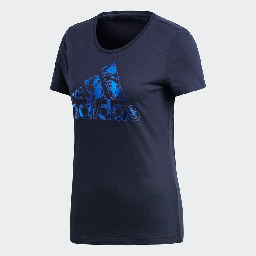 a14b19229d camiseta adidas feminina foil bos tee azul. Carregando zoom.