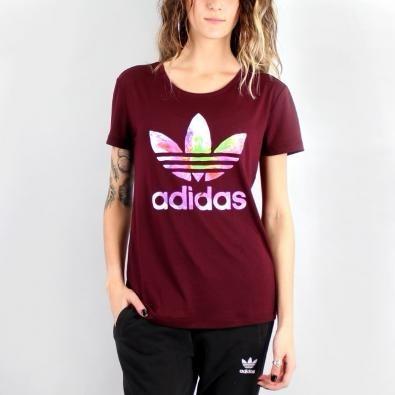 0cd6cfcf28 Camiseta adidas Feminina Graphic Bordo Não Farm - R  130