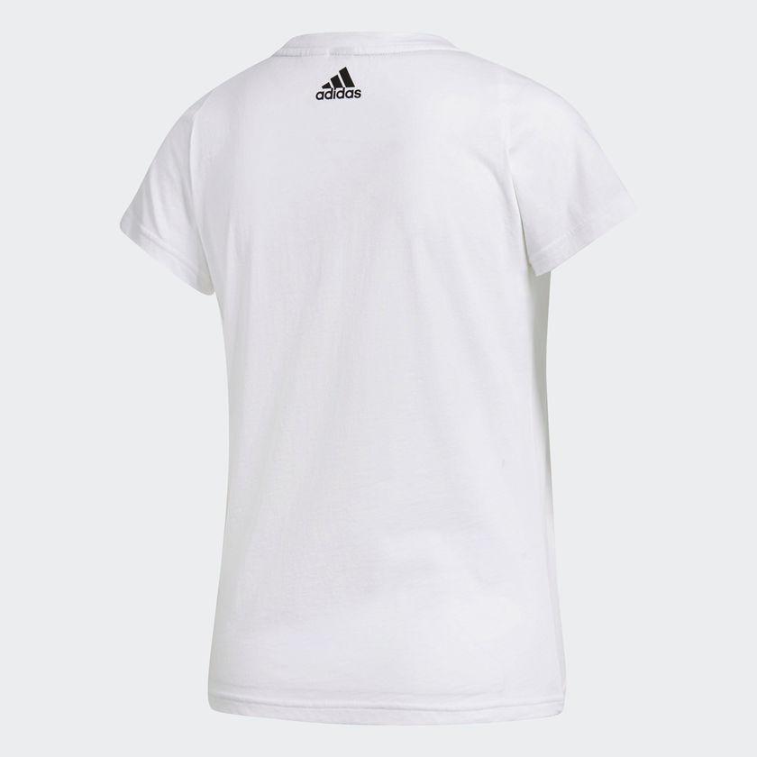 10c5c99cb29 camiseta adidas feminina mc ess li sli tee bco pto. Carregando zoom.