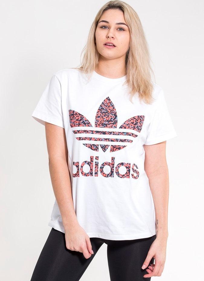 ae815bee8c camiseta adidas feminina originals branca nota fiscal nova. Carregando zoom.