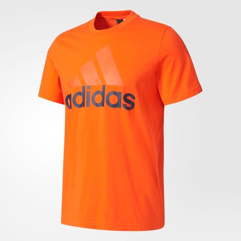 Camiseta adidas Linear Masculina S98736 - M - Laranja - R  99 2757d52a7df1b