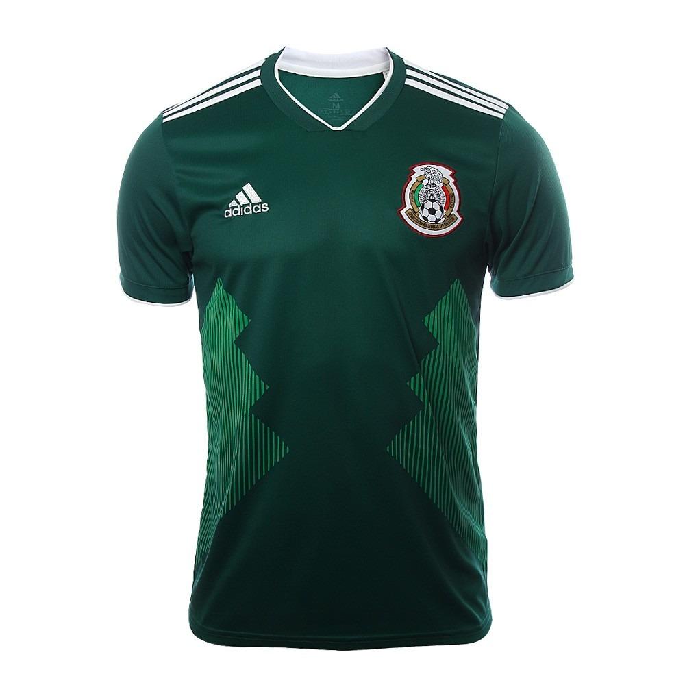 aca968898f911 Camiseta adidas Mexico Titular Mundial 2018 Wales Deportes -   1.400 ...