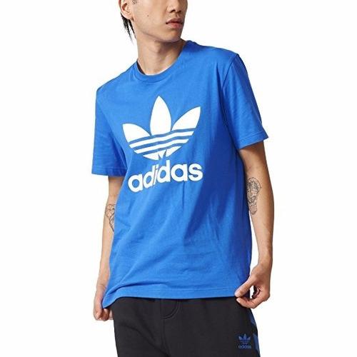 camiseta adidas originals de trefoil azul  xxl