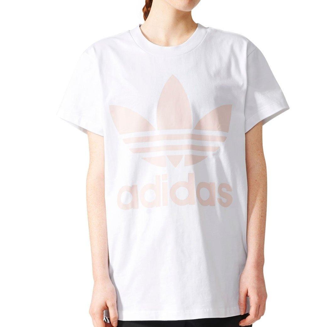 Camiseta adidas Originals Trefoil Con Logo Grande Para Mujer