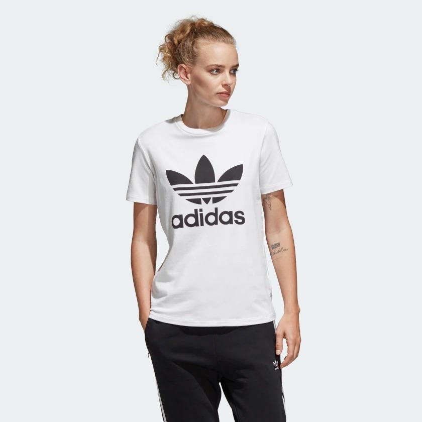 64dd67395 camiseta adidas originals trefoil feminina original cv9889. Carregando zoom.