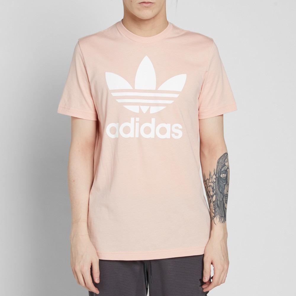 Camiseta adidas Originals Trefoil Vapour Pink Hombre Talla L - U S ... 071f890afc6aa