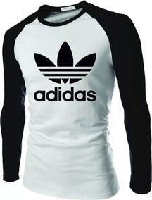 2f82b76252 Camiseta Manga Longa Raglan Adidas - Camisetas e Blusas no Mercado ...