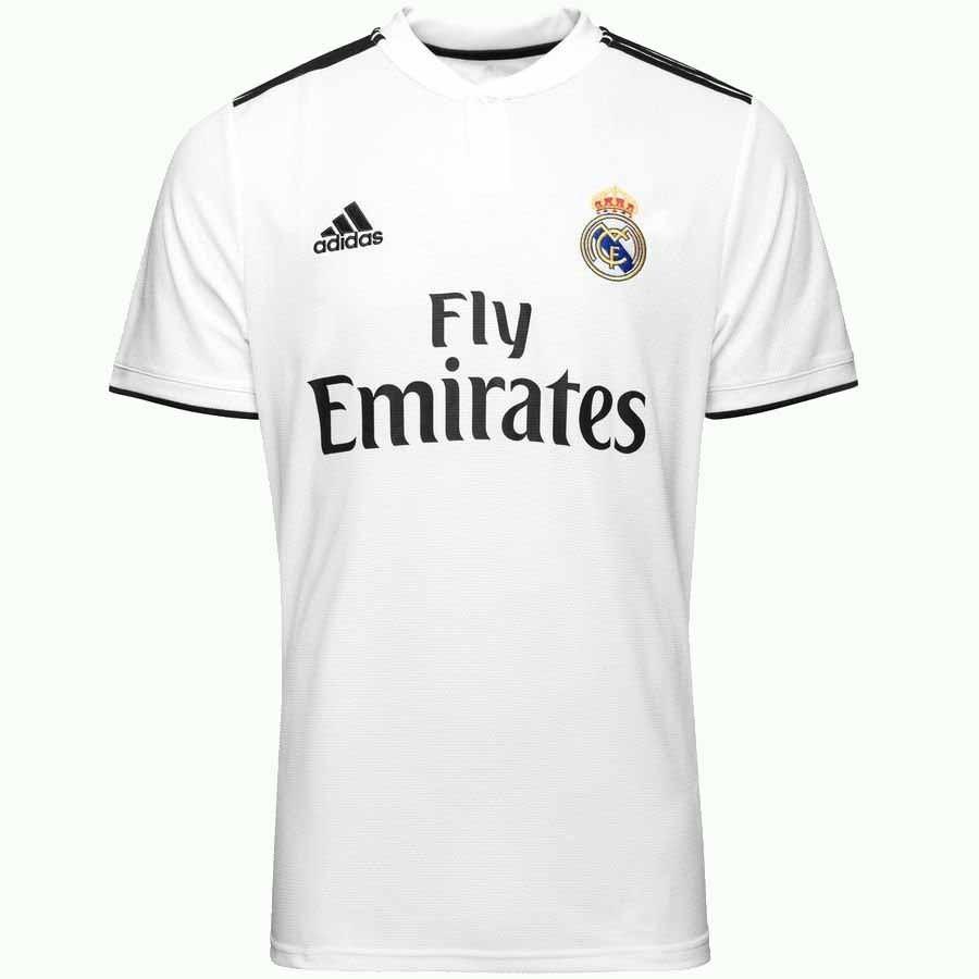camiseta adidas real madrid 2018 blanco hombre deporfan. Cargando zoom. c9f4a9b7eec54