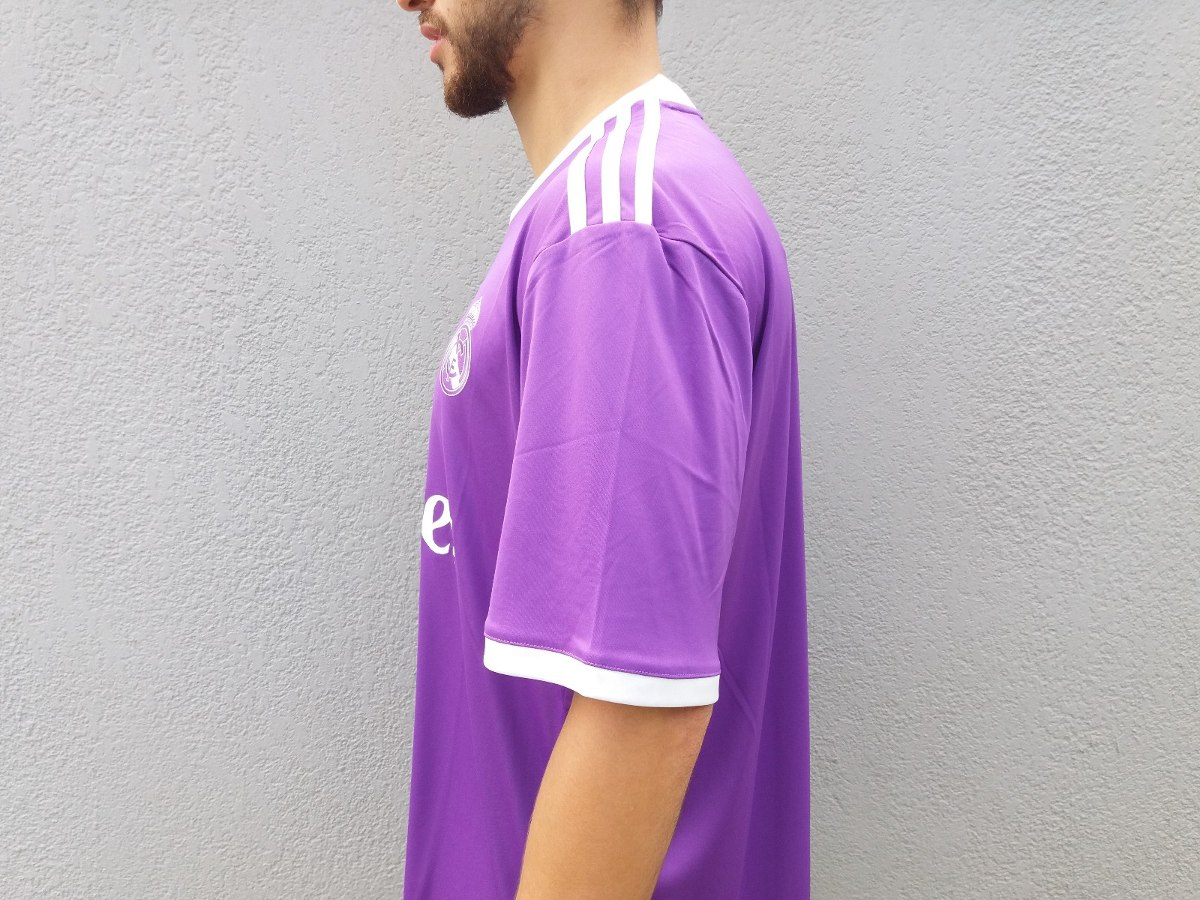 d1c021bb7d camiseta adidas real madrid away roxo climacool original. Carregando zoom.