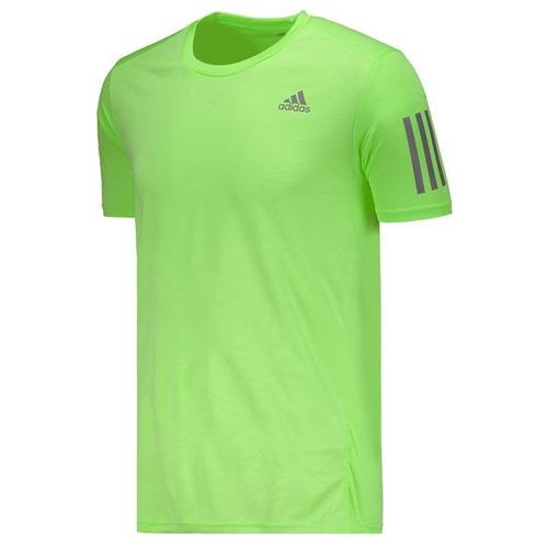 Camiseta adidas Response Running Amarela - R  64 8a483402ab03b