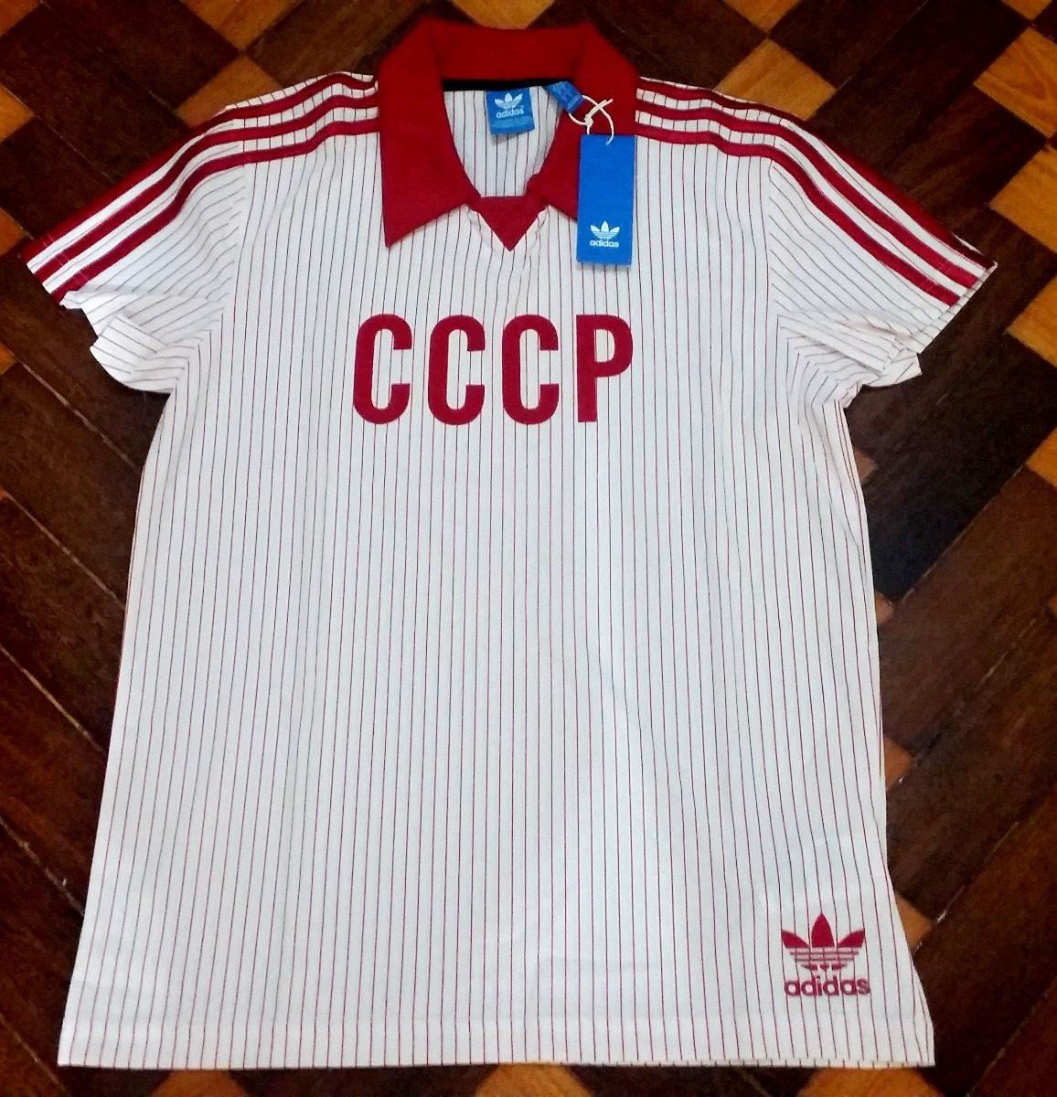 Camiseta adidas Rússia Originals Retrô Branca 1982 - R  188 ce68bf9158ff3